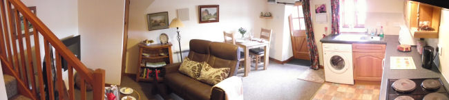 Panoramic Gallop Living Room